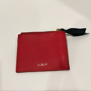 New J Crew Signet Red Coin Pouch